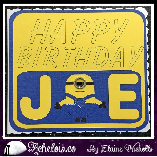 Minions birthday card 1