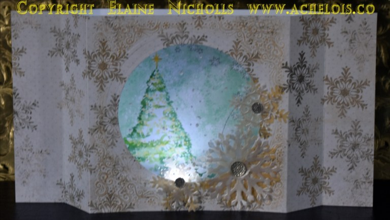 Light up Christmas card centrepiece let it snow 1