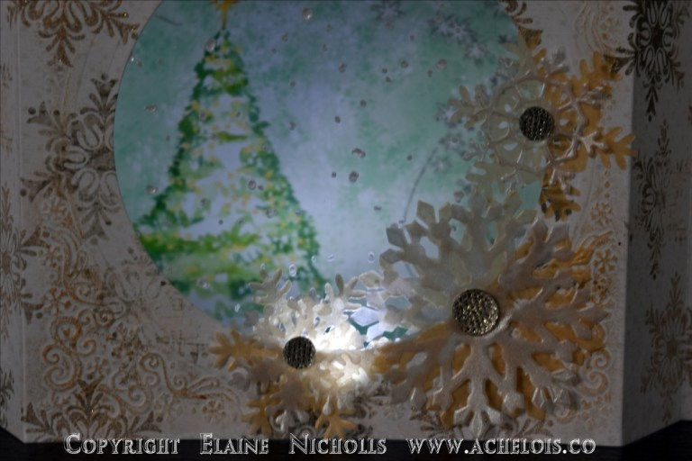 Light up Christmas card centrepiece let it snow 4