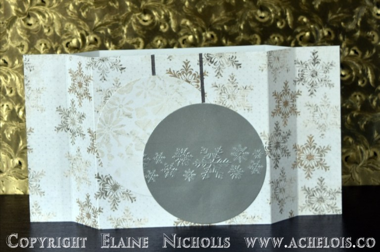 Light up Christmas card centrepiece let it snow 5