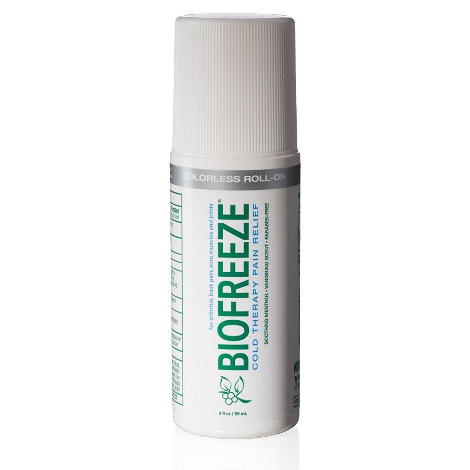 Biofreeze roll on applicator bottle