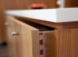 photo of Close detail drawer edge 13-ply alder veneer