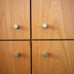 photo of kitchen wall cabinets four corners pulls