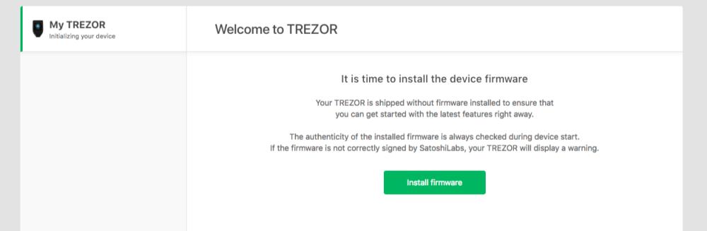 trezor model t firmware