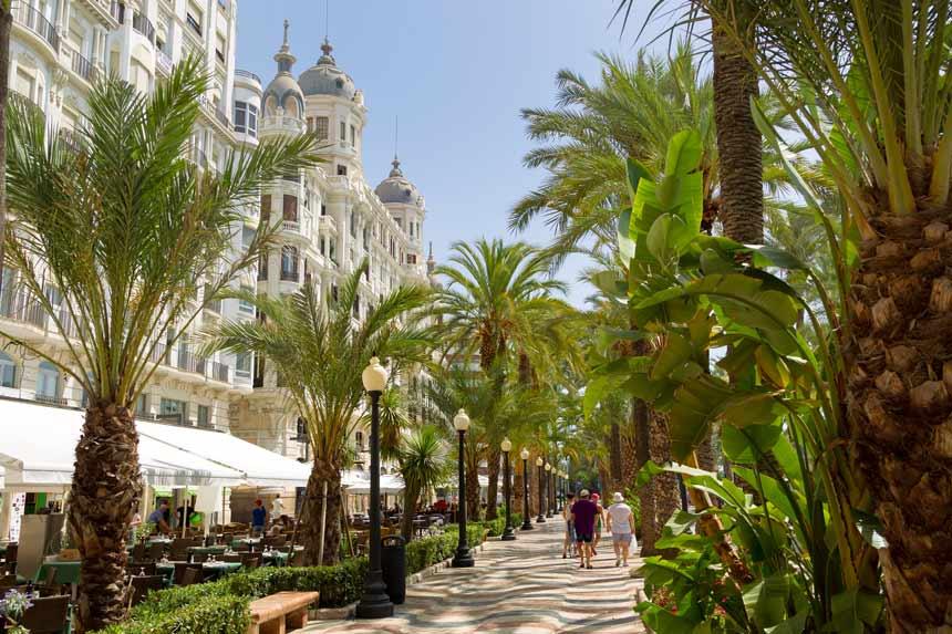 Alicante paseo-de-la-explanada acheter en espagne