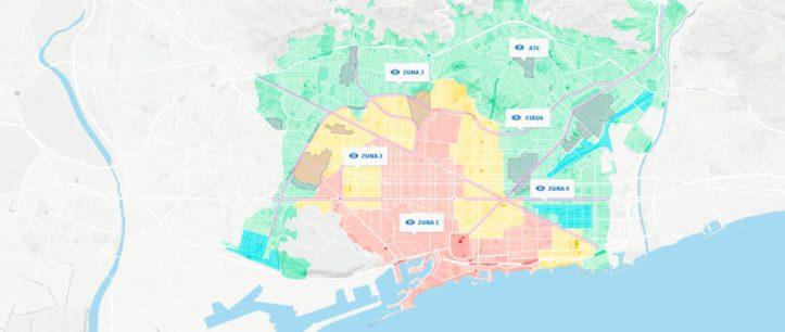 Zones peuat Barcelone logements touristiques acheter immobilier Espagne