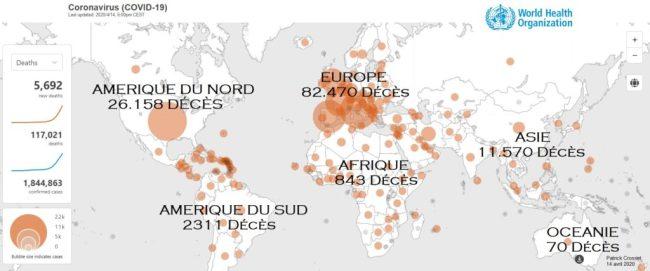 Coronavirus Covid-19 carte monde acheter immobilier espagne