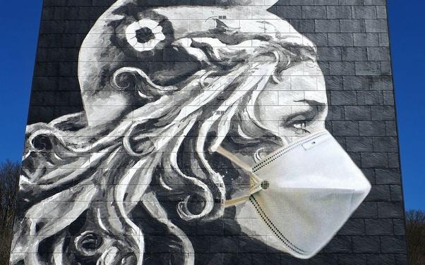 Street Art Covid et Immobilier Coronavirus acheter en Espagne 009