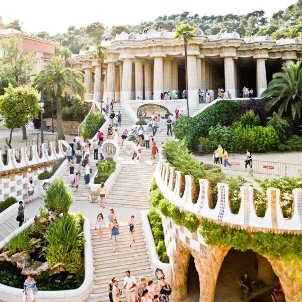 Parc Guell Gaudi Barcelone acheter immobilier en Espagne
