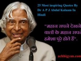 Dr Abdul Kalaam Quotes