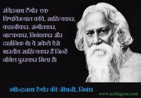 Rabindranath Tagore Biography & Essay In Hindi,