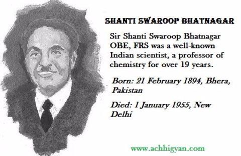 शान्ति स्वरूप भटनागर की जीवनी   S.S Bhatnagar Biography In Hindi