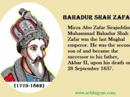 अंतिम मुग़ल बहादुर शाह ज़फर इतिहास | Bahadur Shah Zafar History In Hindi