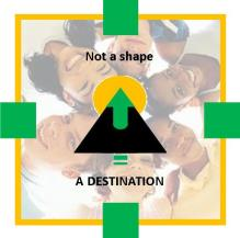 NOT A SHAPE A DESTINATION Transparent BT