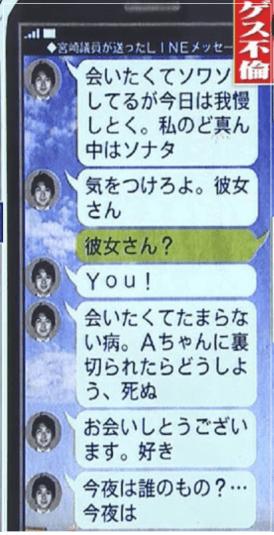 金子恵美 宮崎謙介 浮気相手 宮沢磨由 ライン 内容