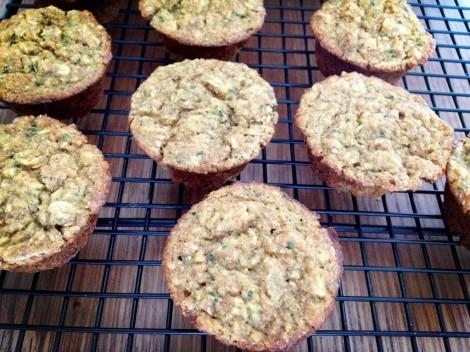 Kids in the Kitchen: Apple Spinach Muffins