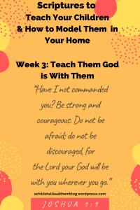Joshua God is with you
