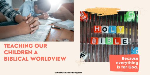 teaching our children a biblical worldview