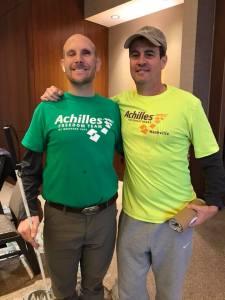 Guide Ed Sieffert and athlete Tim Hornik