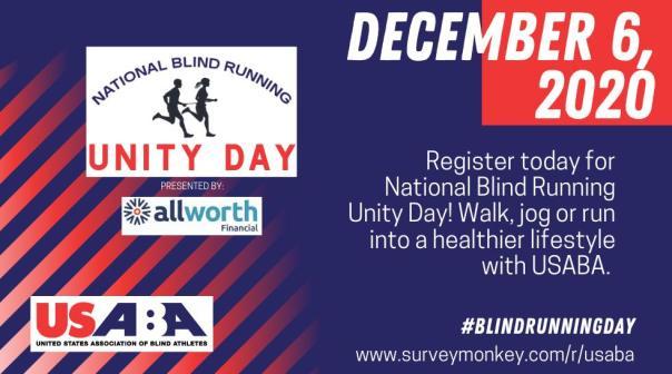 National Blind Running Unity Day logo December 6