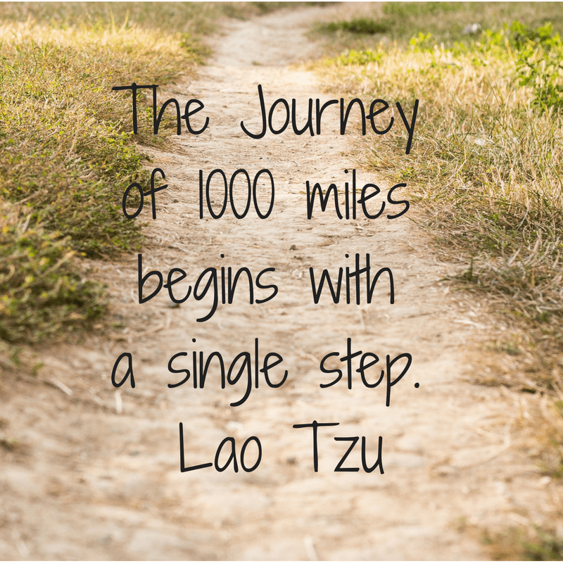 Journeys Begin With a Single Step