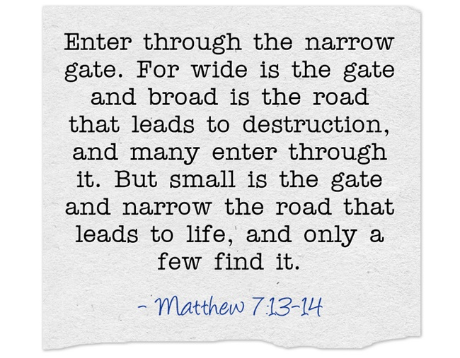 Enter-through-the-narrow