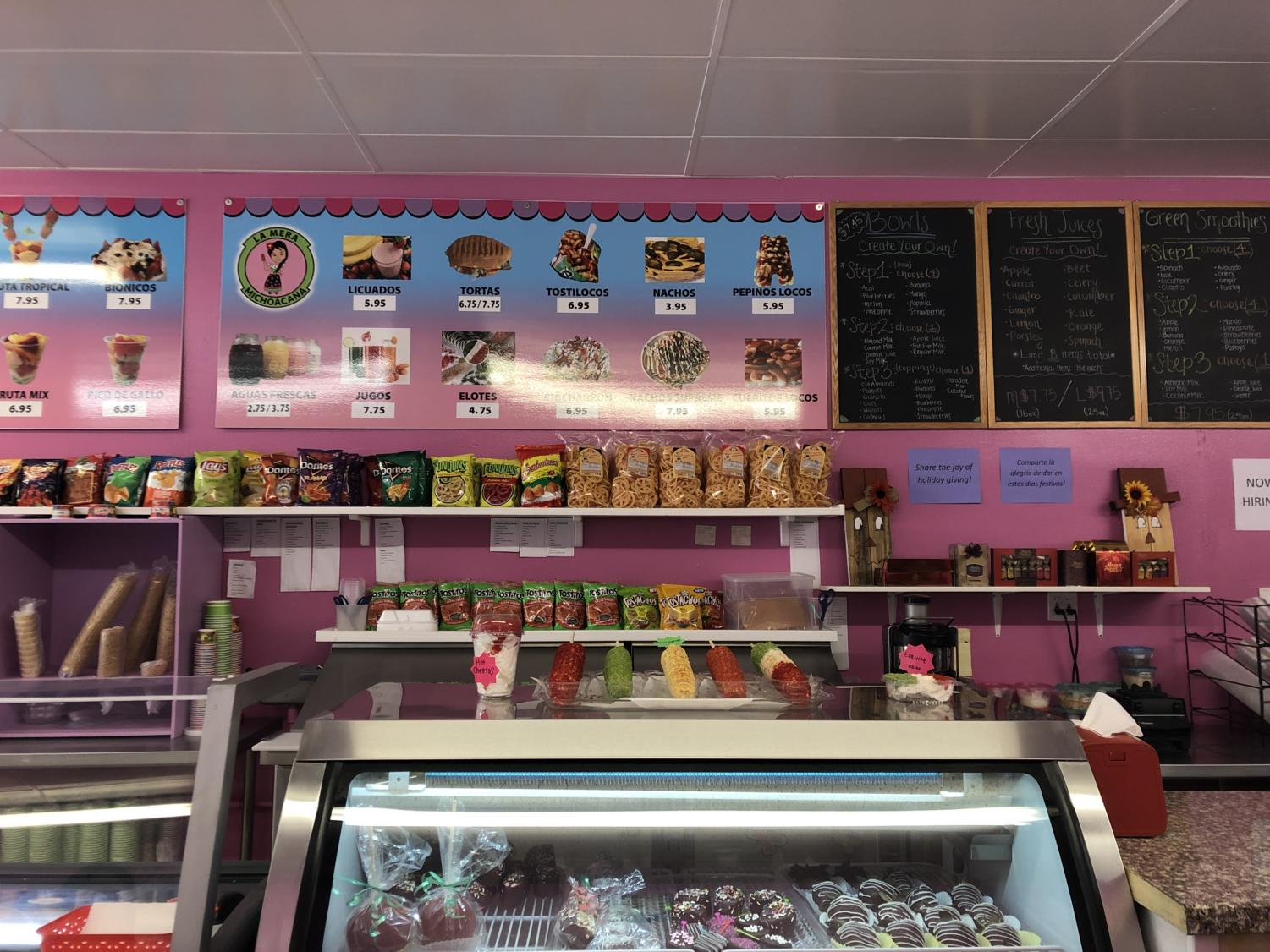 La Mera Michoacana ice cream shop located by Toppers off Arneill Rd.