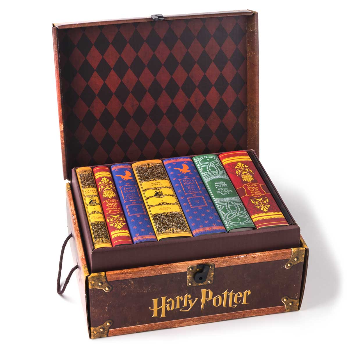 A box of the Harry Potter novels written by J.K. Rowling.