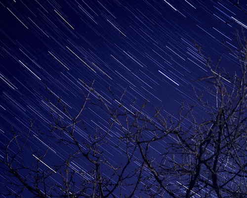 Photo of stars in the night sky