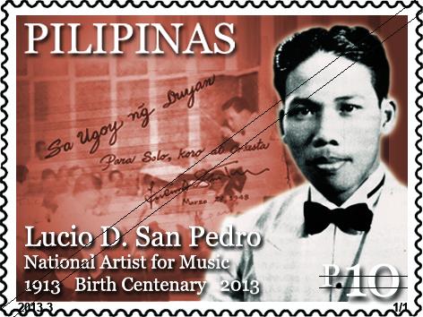 Lucio San Pedro commemorative stamp of 2013