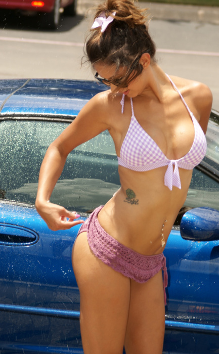 No One Washes A Car Better Than A Soaking Wet, Sexy Woman (54 pics)