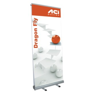 Dragon Fly Double-Sided Retractable Banner Display