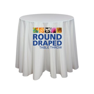 Printed Table Throw Covers For Round Tables