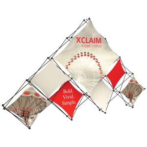 20 x 10 XCLAIM Fabric Popup Displays