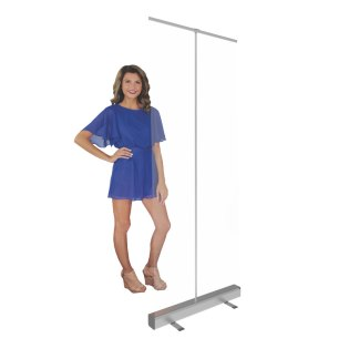 """31.5"""" Wide Clear Plastic Retractable Banner Stand Screen"""
