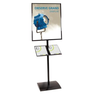 "22"" x 28"" OBSERVE GRAND Poster Sign Display Stand"