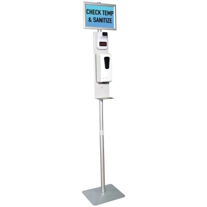 Temperature Scan and Sanitation Dispenser Stand