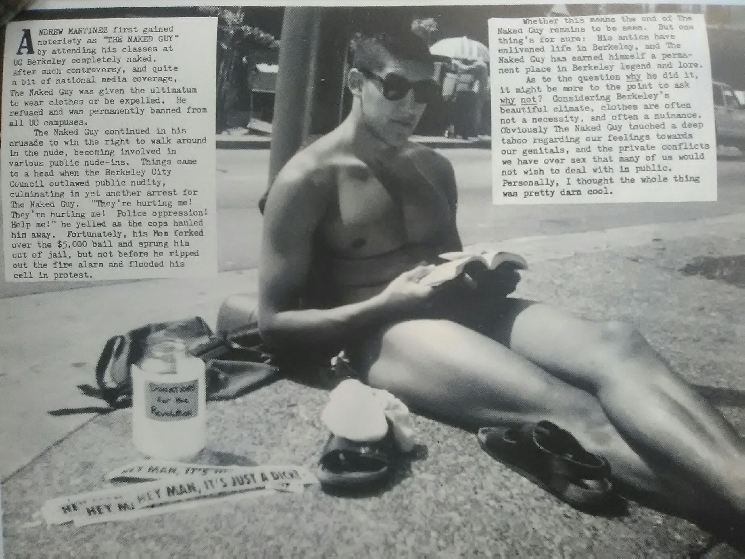 Naked student at berkley