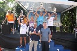 Categoria 65 a 69 anos masculino: 1º Levi de Oliveira - 2º Mario Takase - 3º Joaquim Moreira Feminino: Maria Carvalho