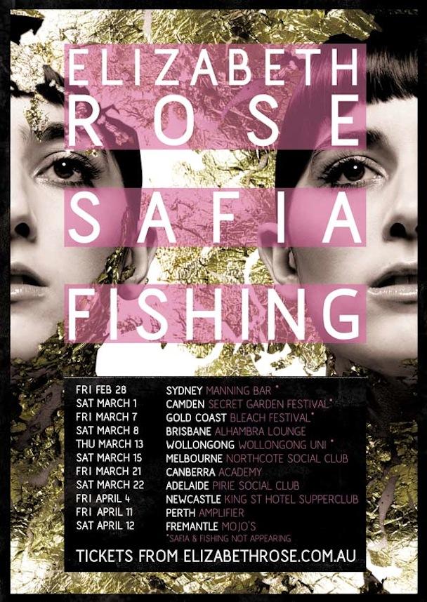 Elizabeth Rose, SAFIA - Tour Poster