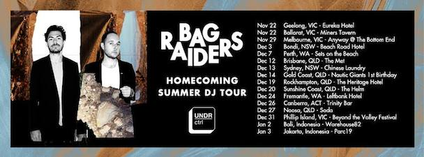 Bag Raiders - gig banner - acid stag