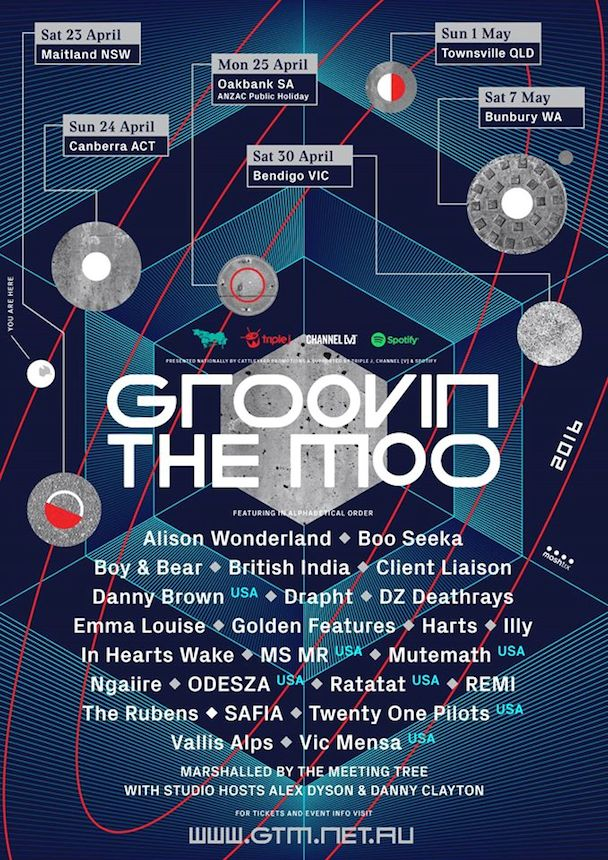 GTM 2016 Lineup Announced - poster - acid stag