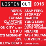 Listen Out 2016 Lineup Announced - acid stag