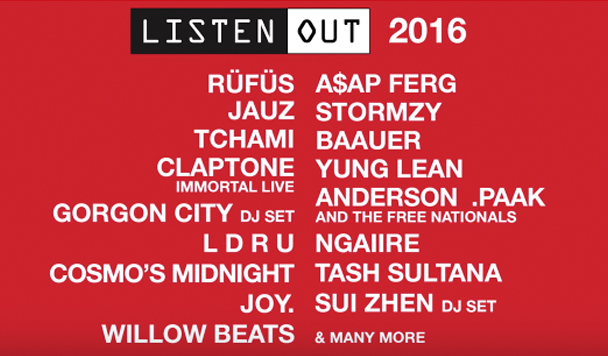 Listen Out 2016 Lineup Announced