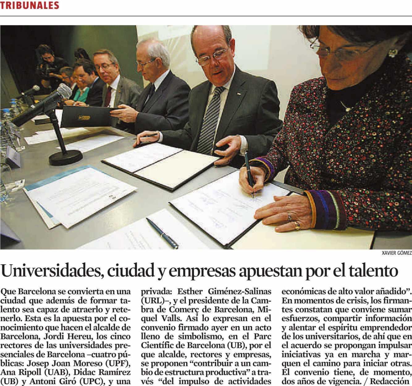 La Vanguardia - 30 gener 2009