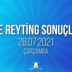 28 Temmuz 2021 Çarşamba reyting sonuçları