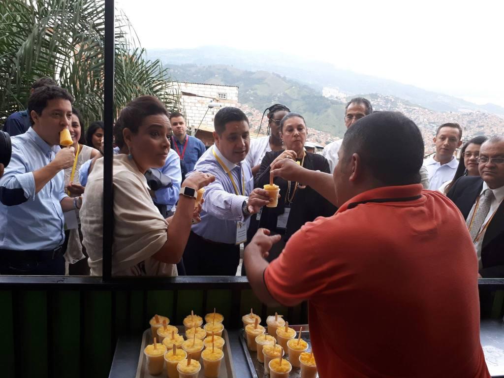 Miembros de la OEA en Medellín