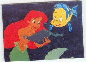Disney Little Mermaid With Flounder Reading A Book Rena