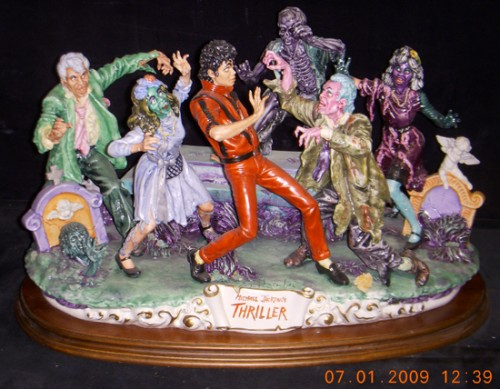 Michael Jackson Thriller Capodimonte 1 Of 6 Ever Made