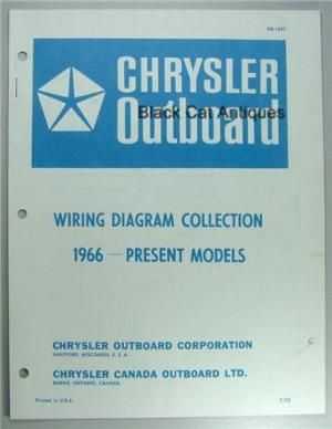 1973 Chrysler Outboard Wiring Diagram Collection Including 1966 to Present Models (1973) NOS